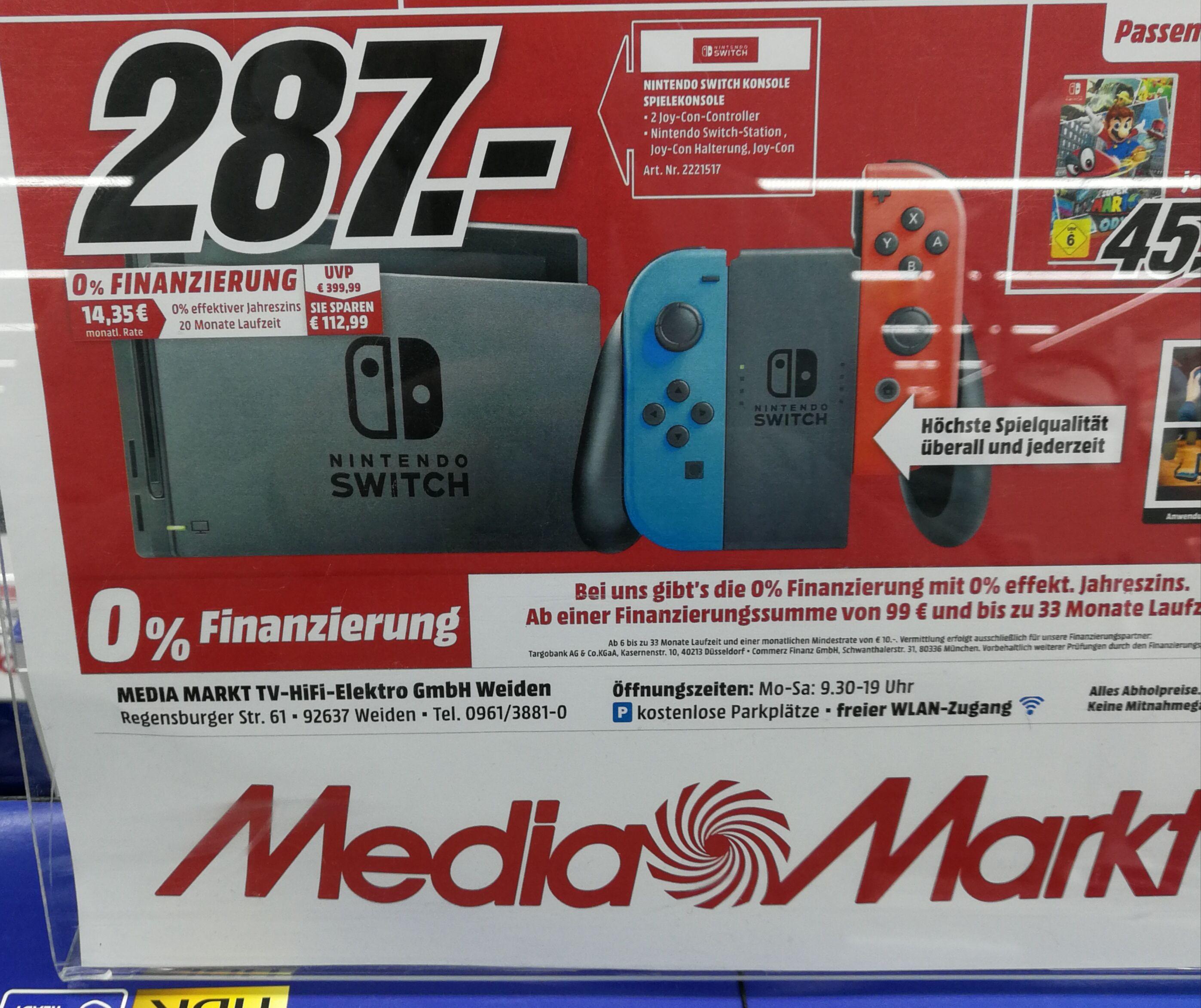(LOKAL) Media Markt Weiden / Nintendo Switch Neon