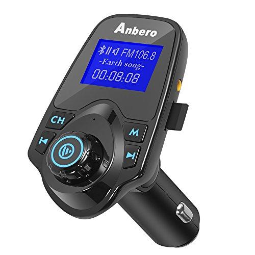 Anbero Bluetooth KFZ FM-Transmitter mit USB-Ladegerät (1,44 Zoll Digital Display)