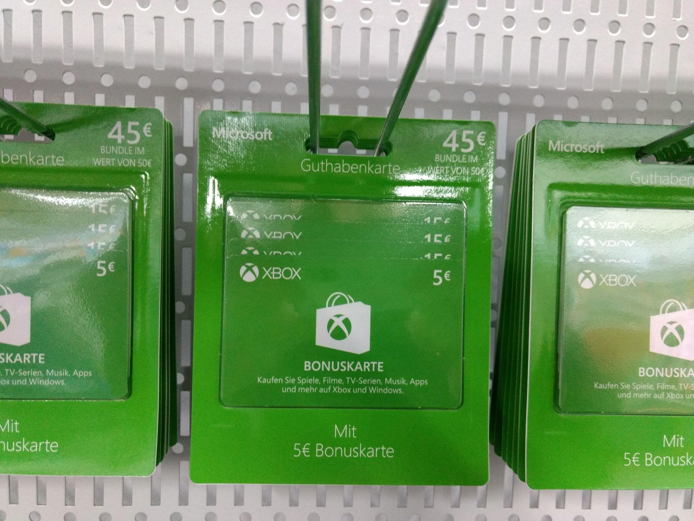 Xbox Live Guthaben 45€ + 5€ Bonus  (Lokal Ibbenbüren?)