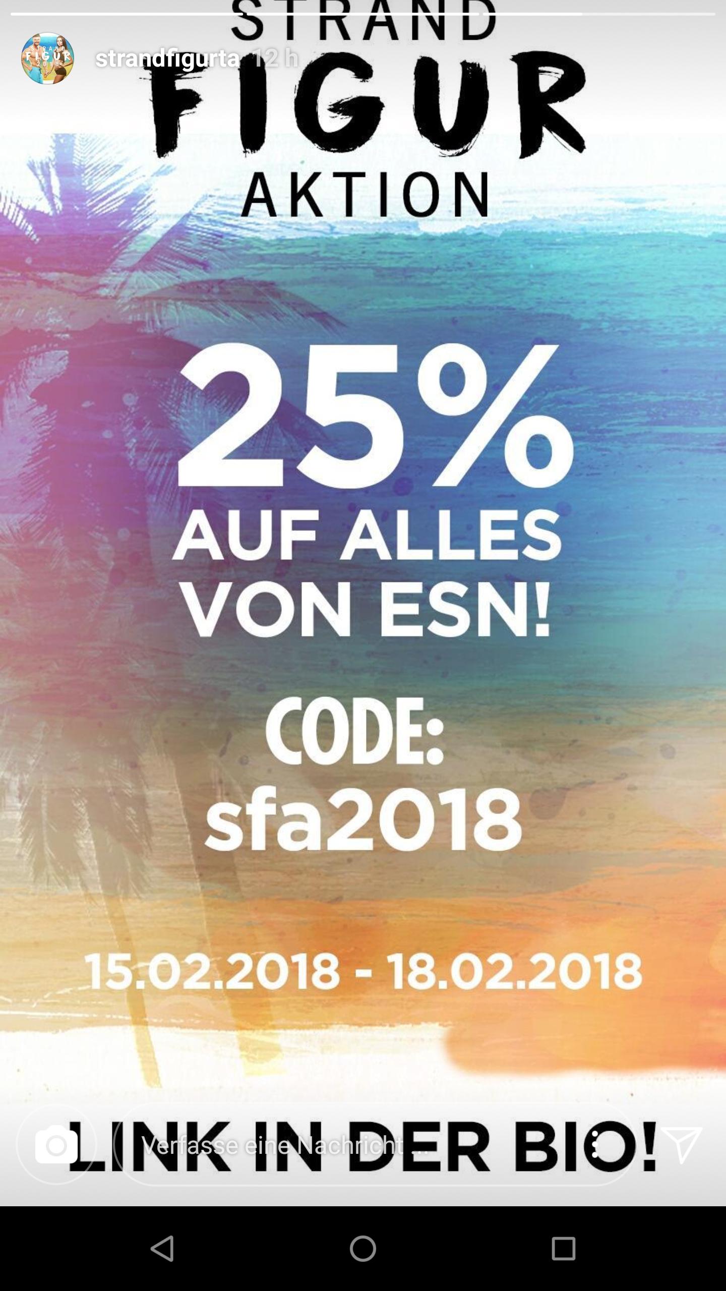 25% auf Esn Produkte