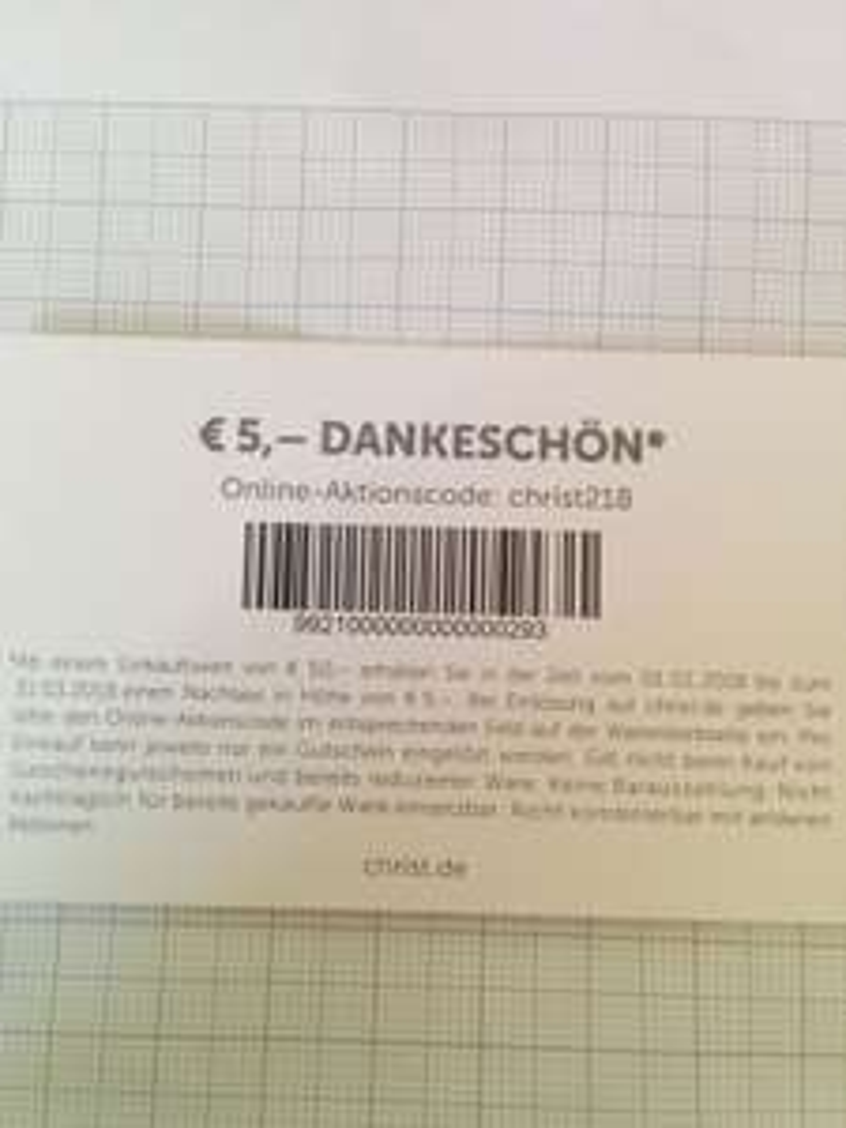Christ 5€ Rabatt ab 50€