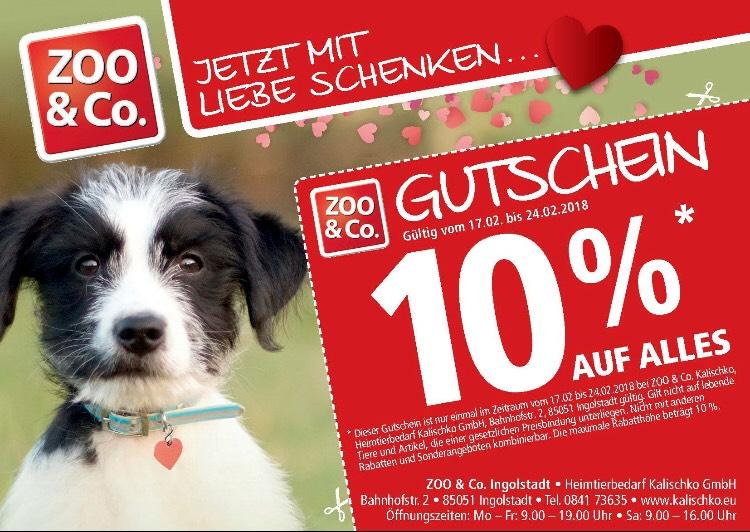 [Lokal Ingolstadt]10% auf alles* im Zoo & Co.