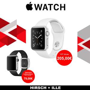 Apple Watch 38mm Series 1 silber/weiß