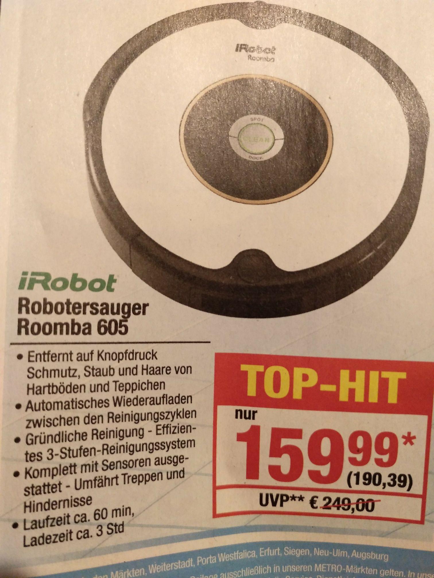 Metro: iRobot Roomba 605 (-5 Euro Gutschein möglich)