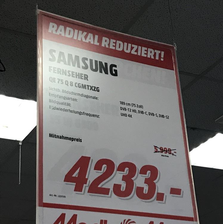 Samsung QE 75 Q 8 C [Lokal MM Aschaffenburg]
