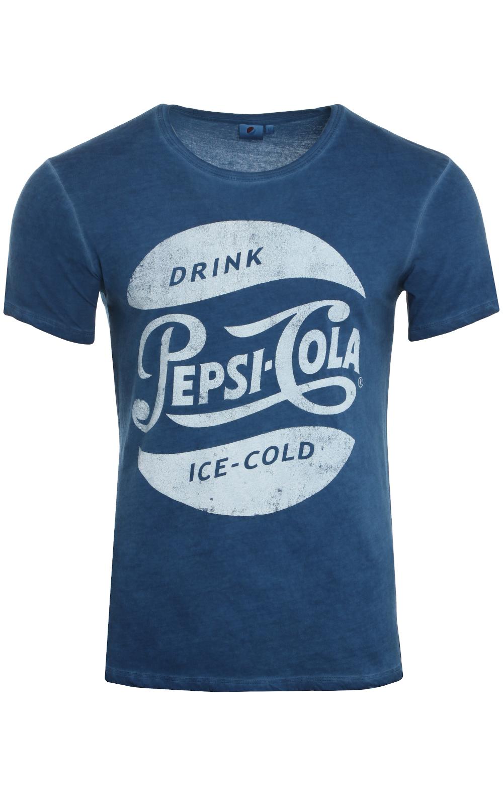 [OUTLET46] PepsiCo Herren T-Shirt Blau - Größe S
