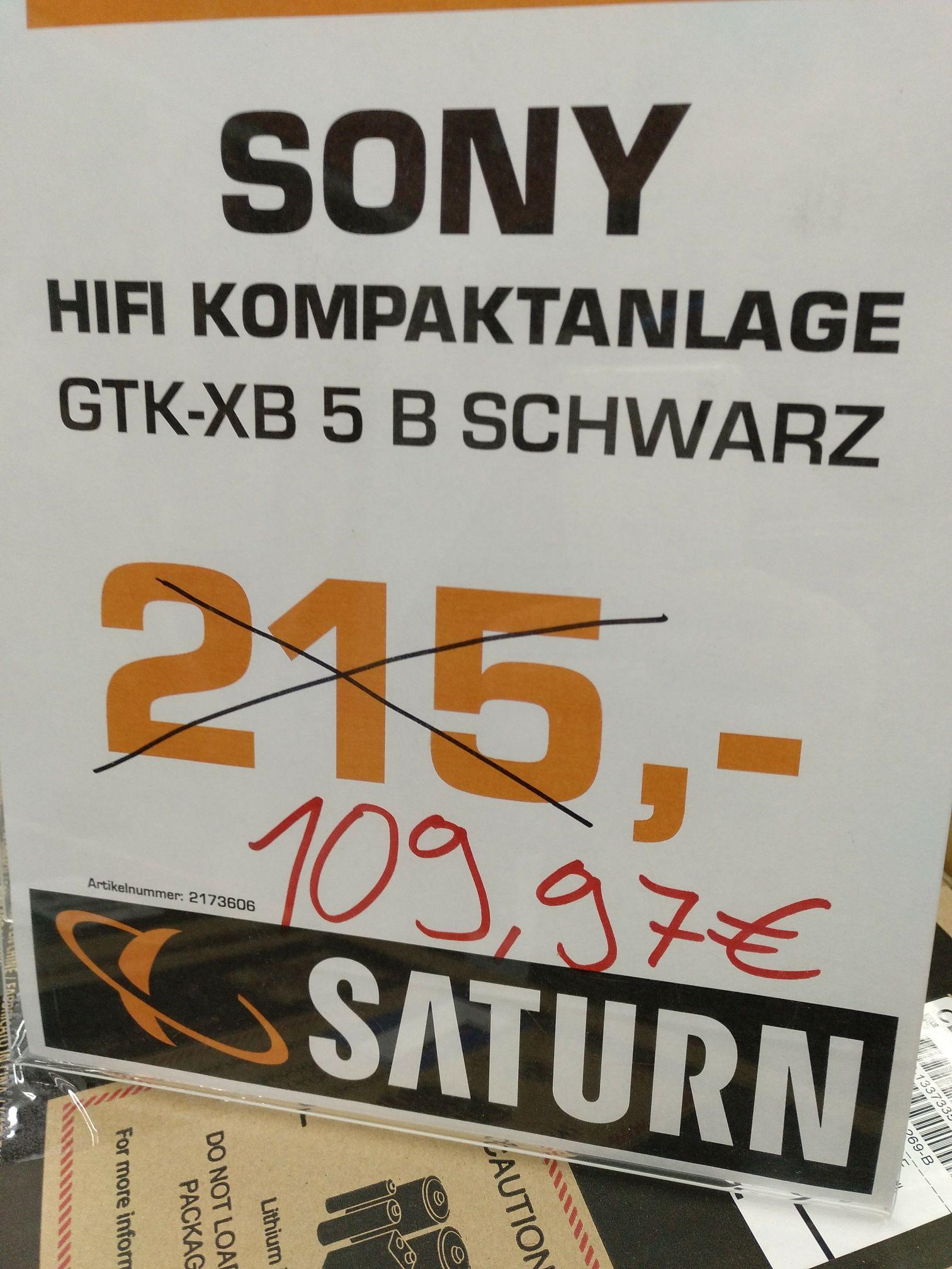 [LOKAL Saturn Mainz] SONY GTK XB5 schwarz/rot