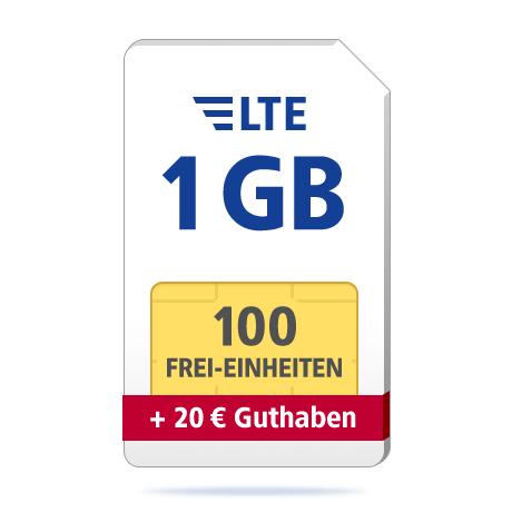 1GB + 100 Einheiten GMX 1&1
