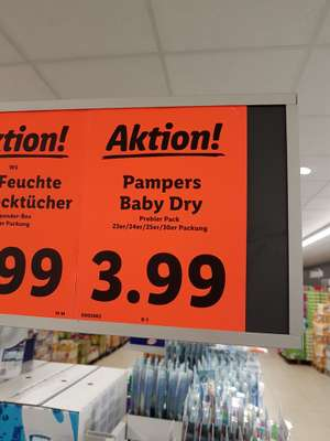 [LIDL] Pampers Baby Dry Probierpackungen