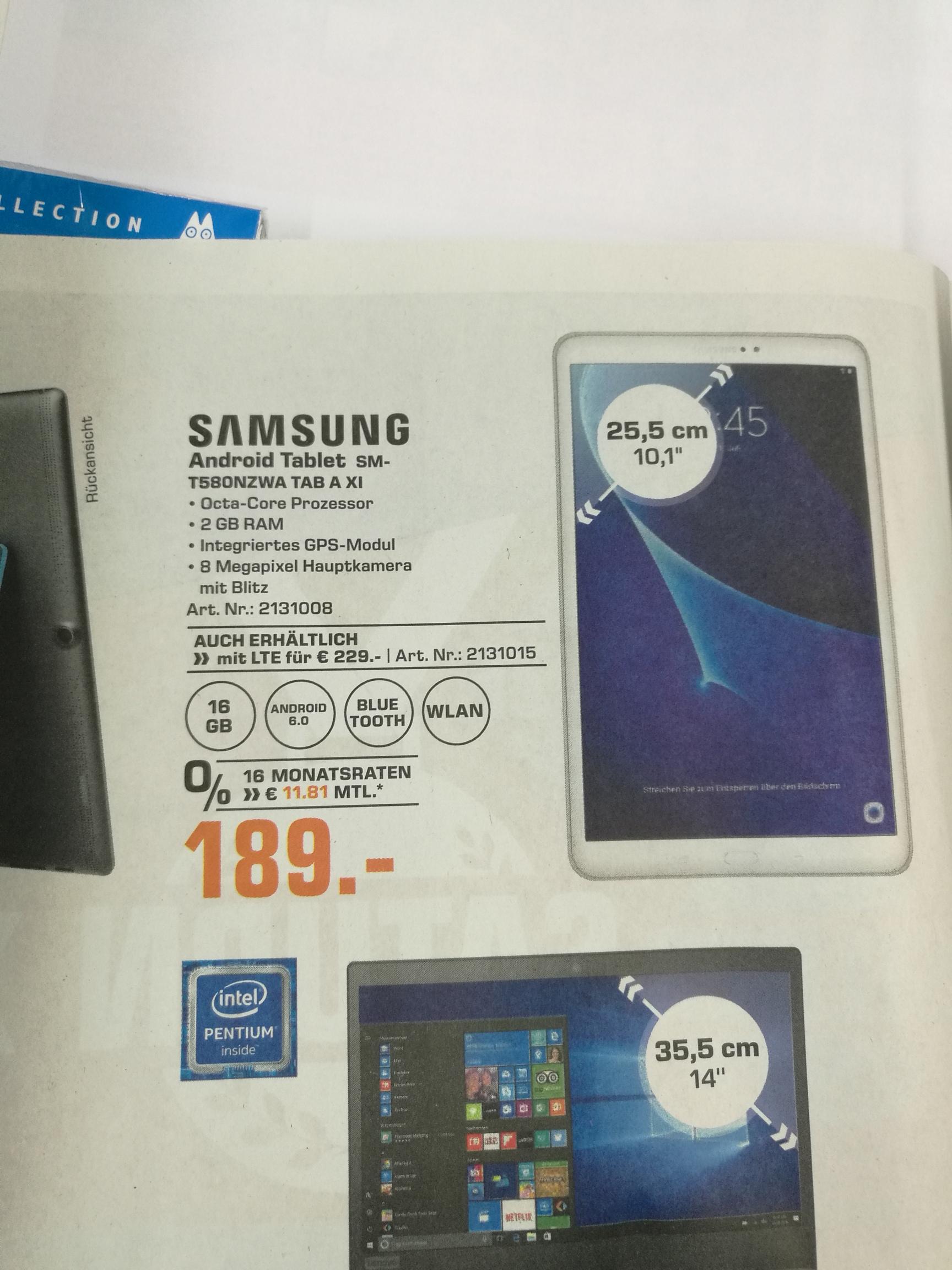 "Samsung Tablet TAB A 10,1"" WiFi"