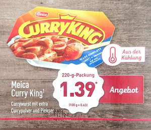 Meica Curry King Currywurst bei Aldi Nord als Wochenend-Highlight