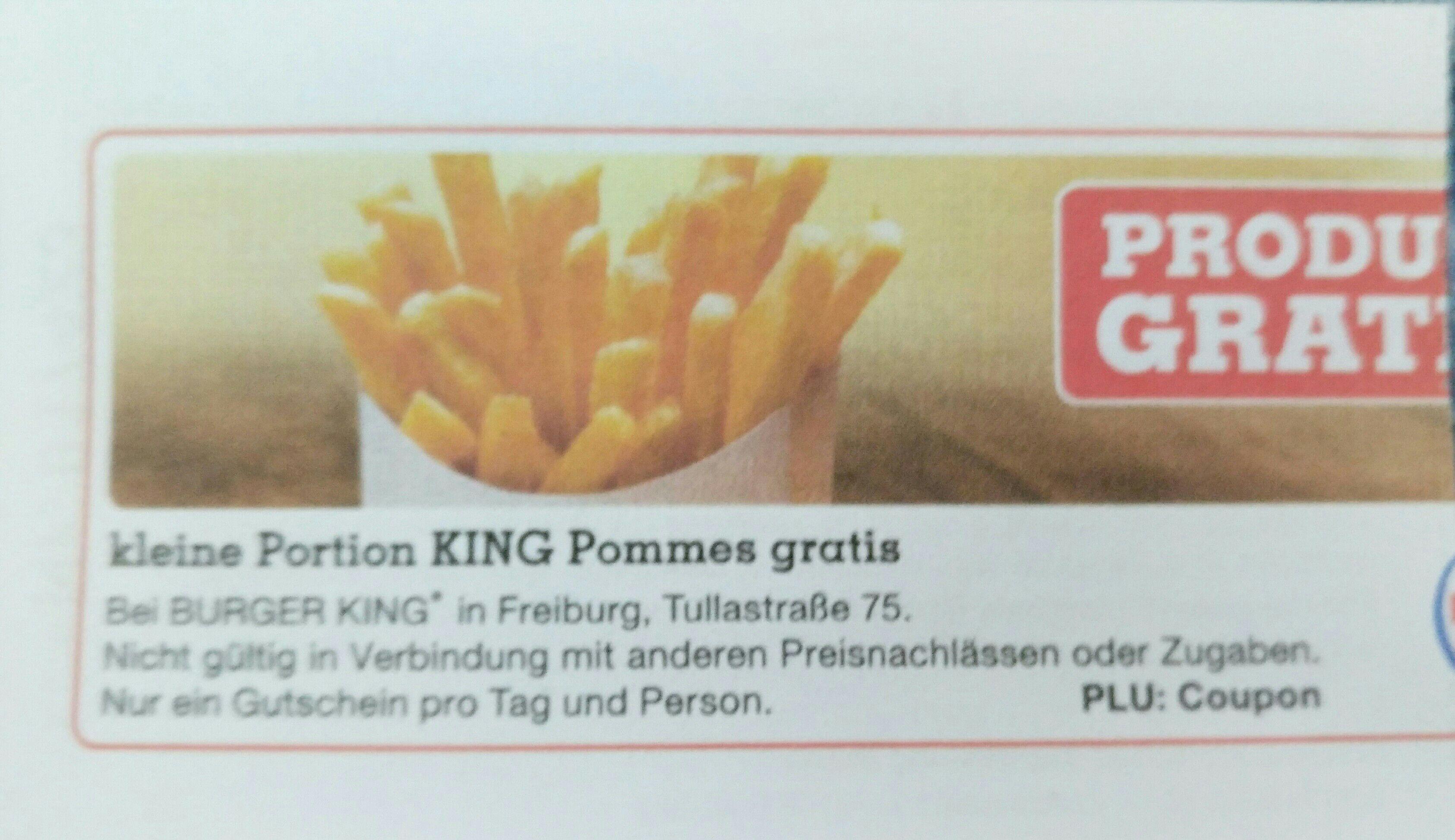 BK Pommes gratis Freiburg