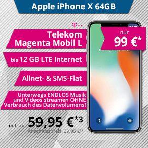 IphoneX 64 GB & Telekom 12GB LTE