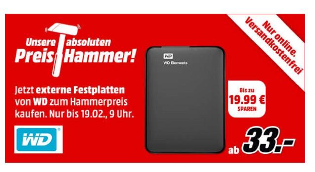 WD externe Festplatte 500GB