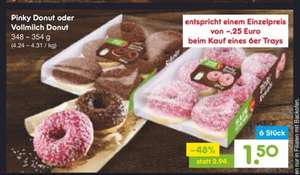 It's Donut-Time, ab Montag bei Netto 6 Donuts für 1,50€