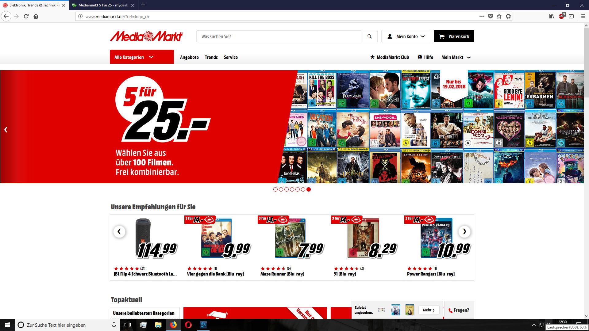 Mediamarkt 5 Für 25 (Blu-rays)
