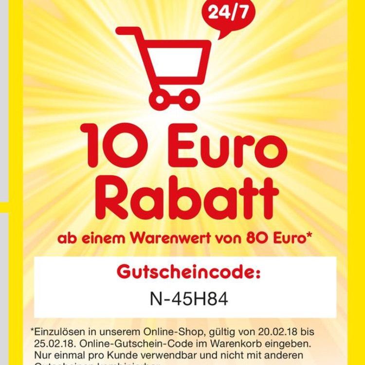 Netto Markendiscount Onlineshop 10€ Rabatt ab 80€, VSK frei
