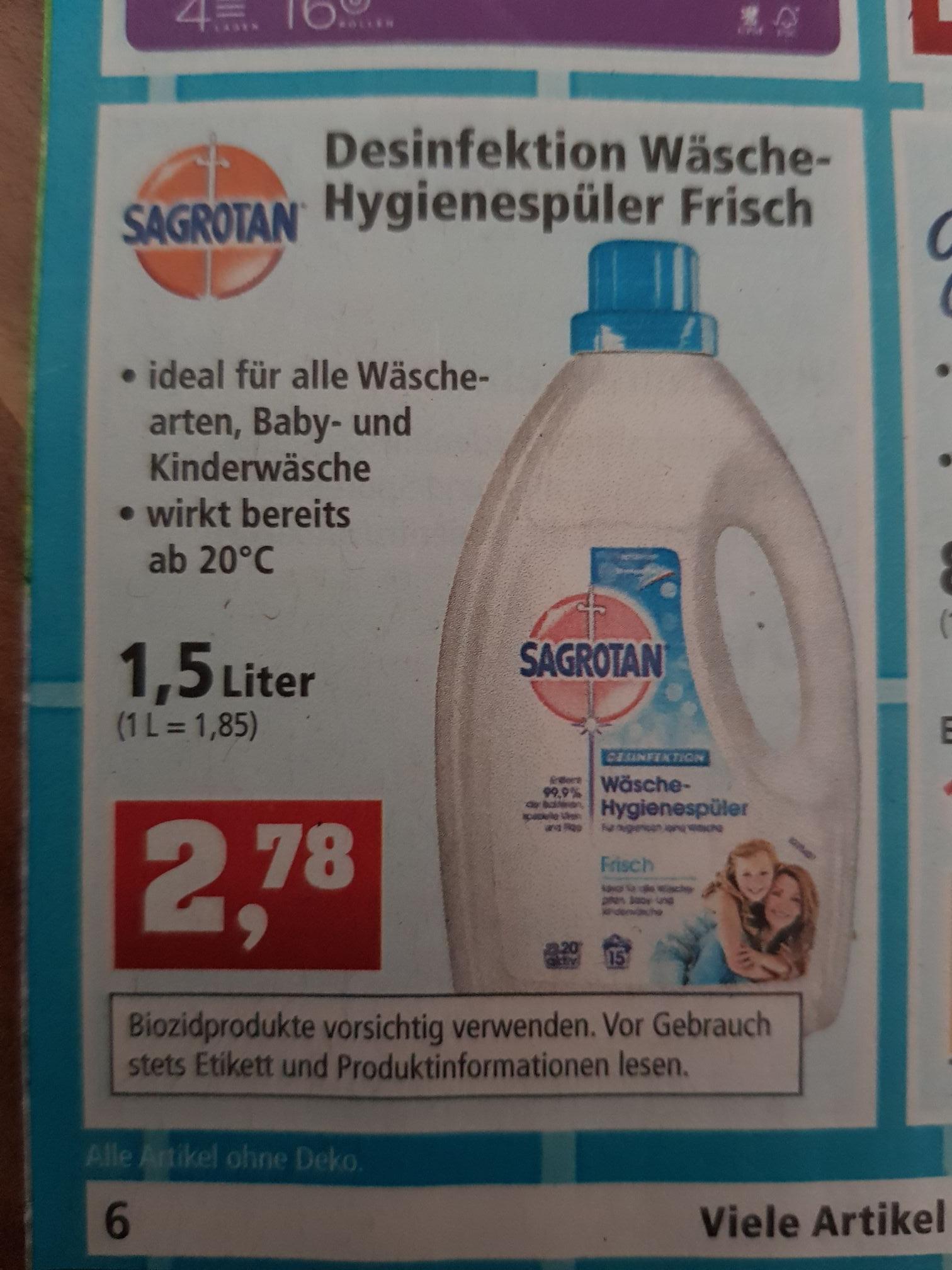 [Thomas Philipps] Sagrotan Wäsche Hygienespüler Frisch für 2,78€