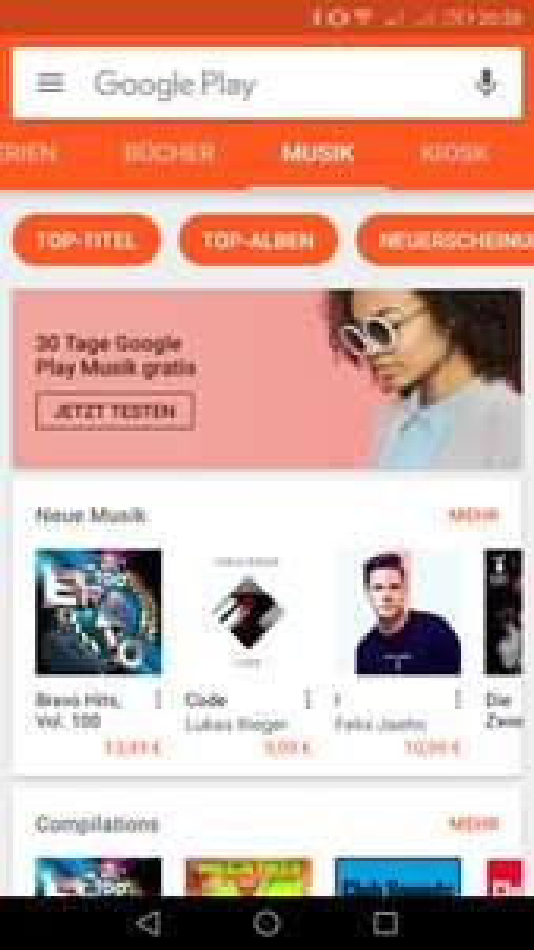 30 Tage Google Play Musik gratis