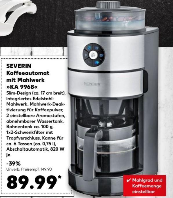 KAUFLAND - Severin Kaffeeautomat mit Edelstahl-Mahlwerk *3 Jahre Garantie*