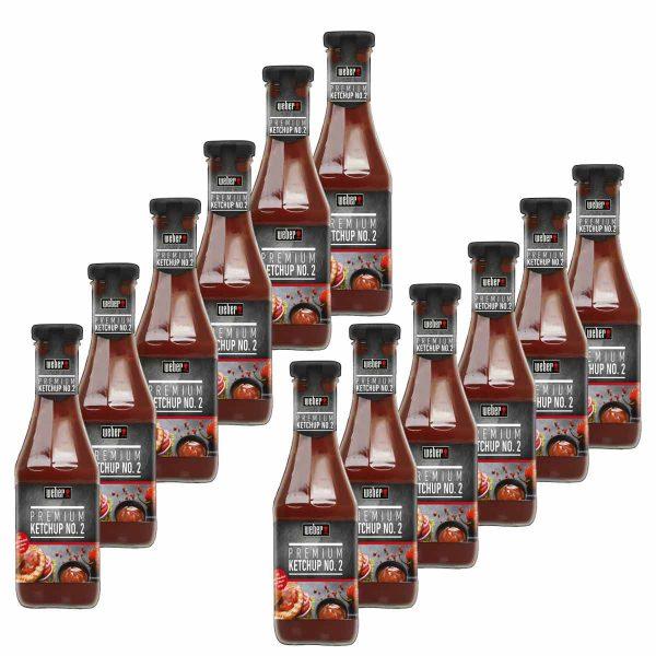 12x Weber Premium Ketchup No. 2 Grillsauce 450ml Flasche  (0,21€ /100 ml)