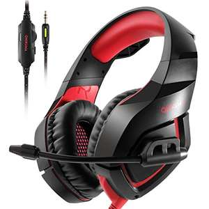 ONIKUMA PS4 Gaming Headset über Ohr Stereo Gaming Kopfhörer mit Noise Cancelling Mic für Nintendo Switch PS4 Xbox One PC Laptop Smartphones - Black + Red - Black + Blue