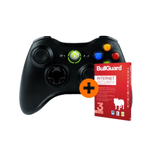 Xbox 360 Wireless Controller PC / XBOX  + Bullguard internet Security 3 User / 1 Jahr