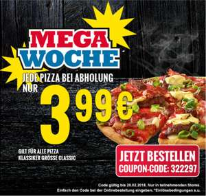 Dominos Pizza 3,99€ bei Abholung