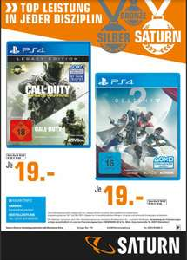 [Saturn Lokal Dortmund-Eving] Destiny 2 und CoD Infinite Warfare Legacy Edition