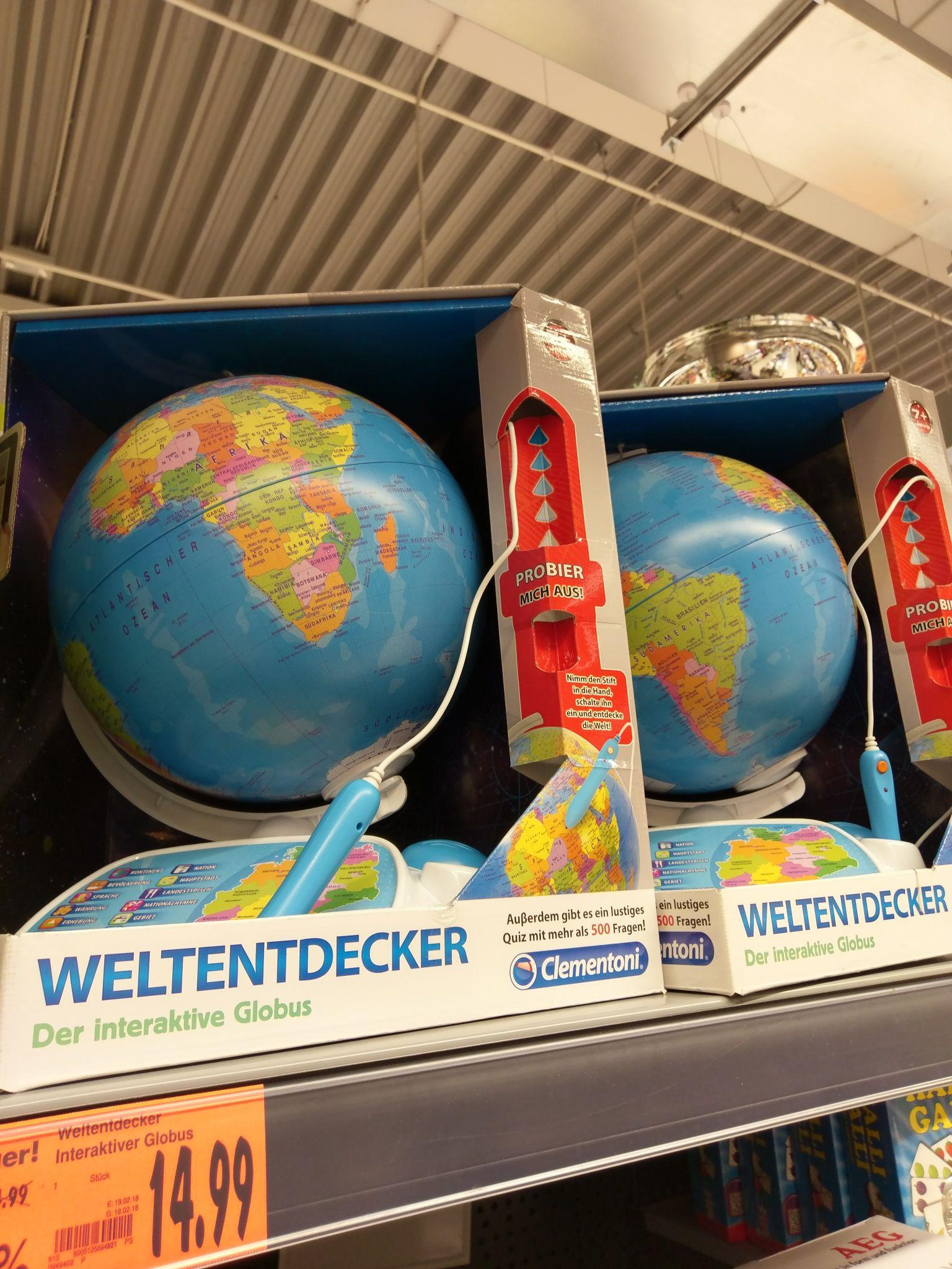 [Kaufland / Berlin-Wedding / Müllerstr.]Clementoni Weltentdecker Galileo İnteraktiver Globus mit Stift