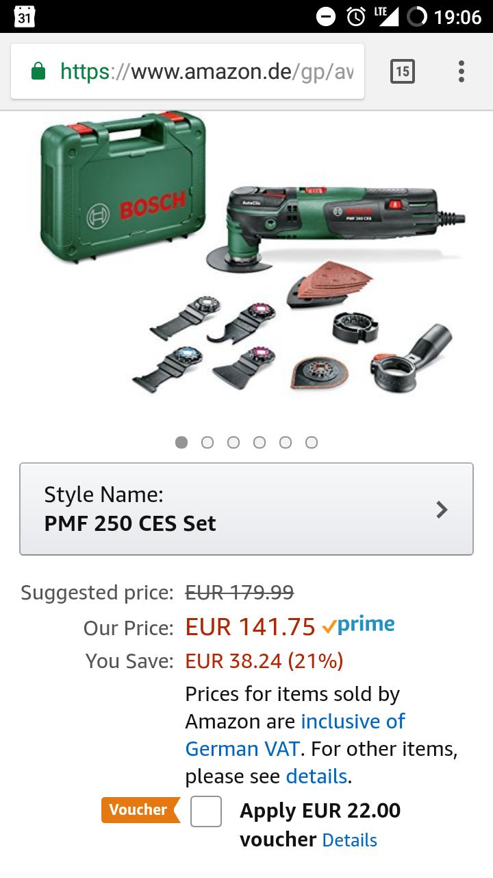 [Amazon] Bosch PMF 250 CES Multi Tool Set