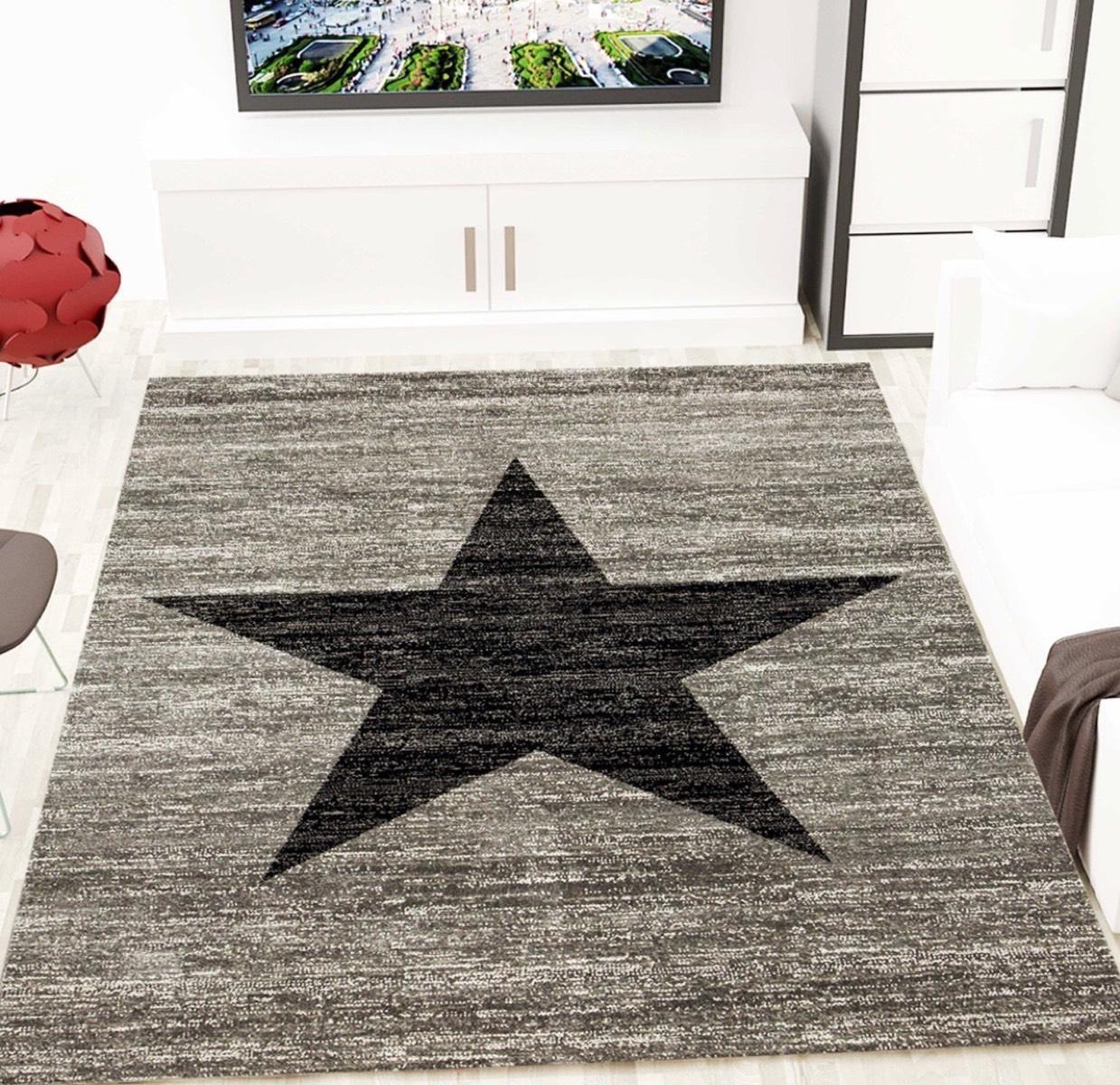 [Amazon] Teppich Fußabstreifer Fußmatte 40x60 grau mit Stern - keine VSK