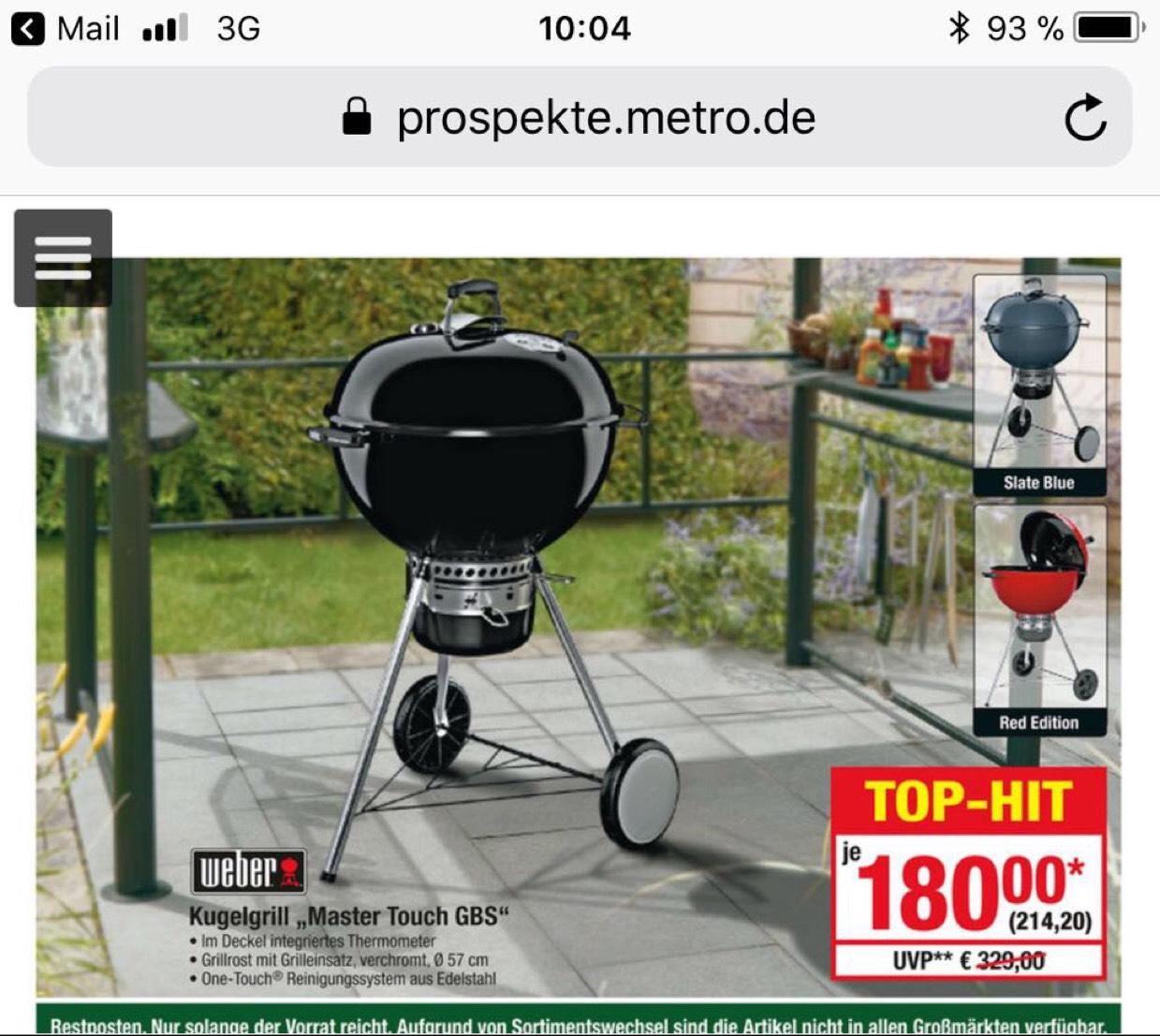 Weber Master Touch GBS 57er bei Metro