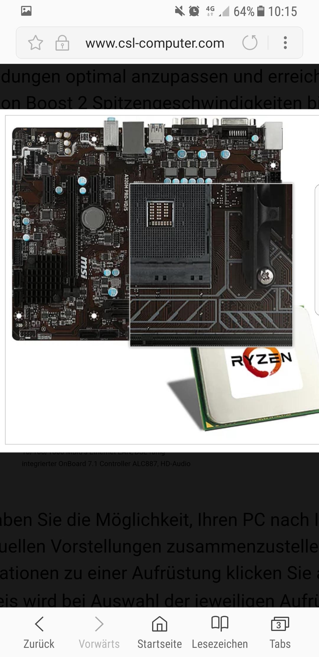 Ryzen cpu 2200G +A320 m + Rx 580