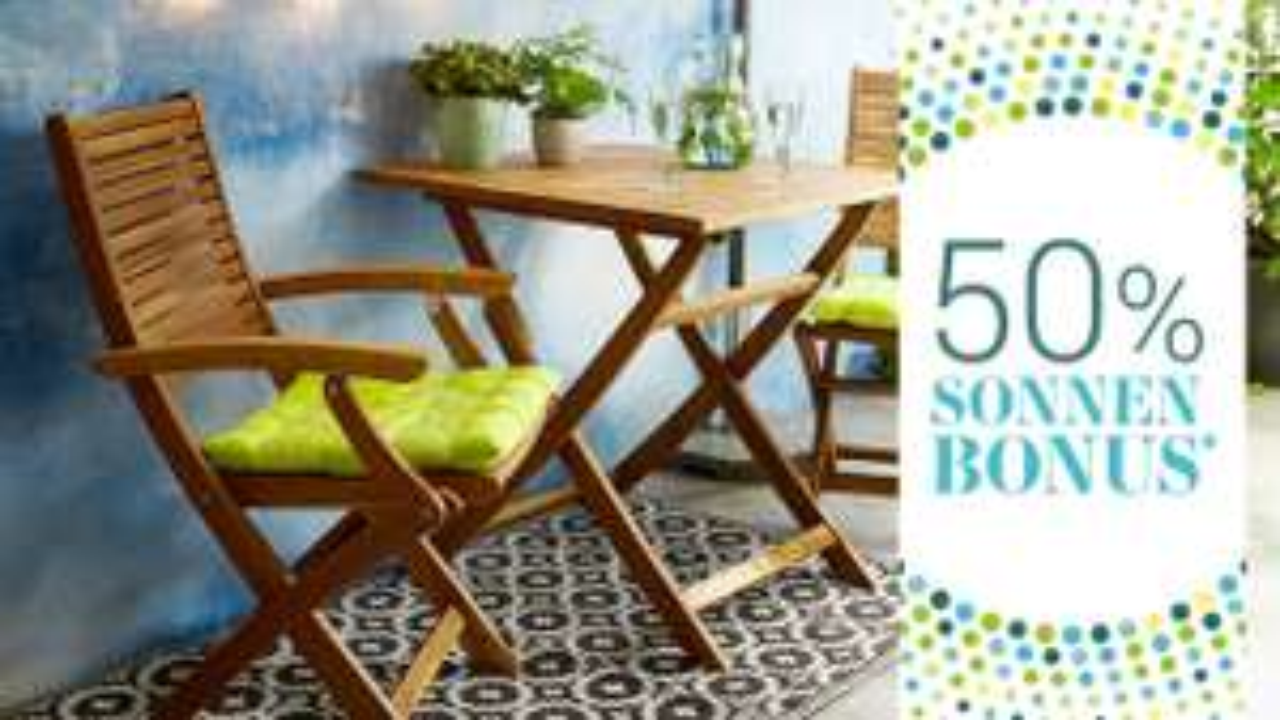Butlers: 50% Rückvergütung beim Kauf von Frühlingsmöbeln