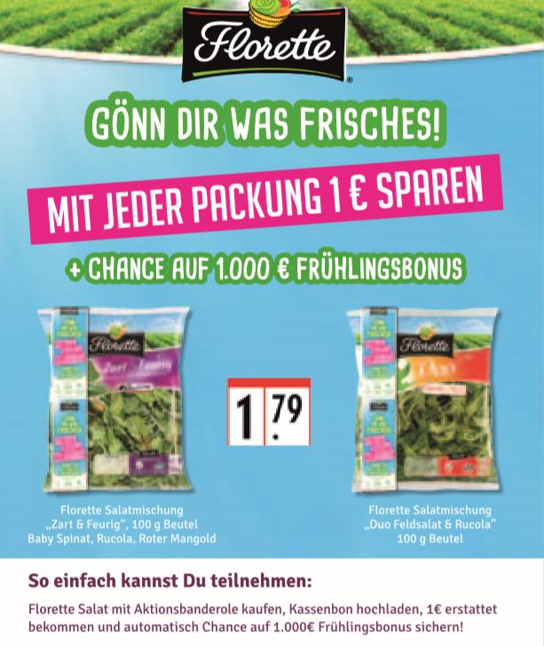 Florette Salat - 1 € Geld zurück