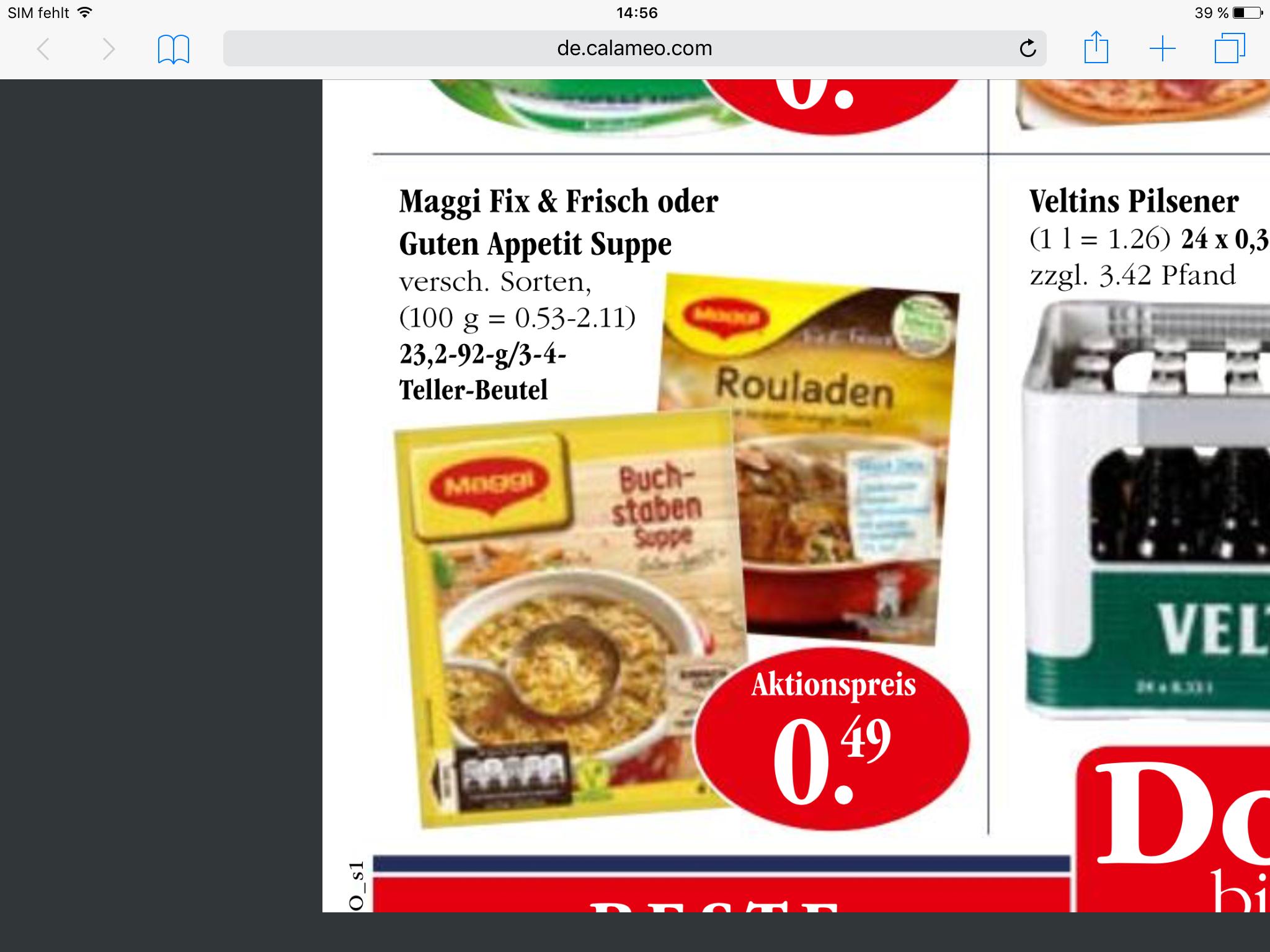 Sky Markt/ MAGGI FIX Produkte - 0,25 € mit Gutschein