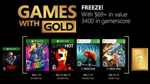 (Games with Gold März 2018) Superhot (Xbox One) Trials of the Blood Dragon (Xbox One) Brave: The Video Game (Xbox One/Xbox 360) Quantum Conundrum (Xbox One/Xbox 360)