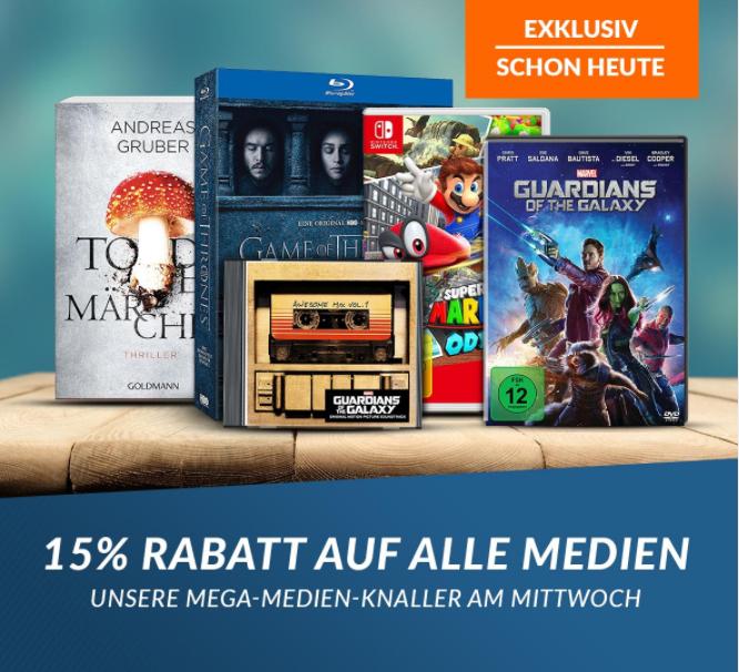 15% auf Bücher, Games, Filme und Musik [Rebuy]