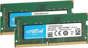 Crucial SO-DIMM 16GB Kit DDR4-2400 CL17 für 88,02€ (Amazon.es)