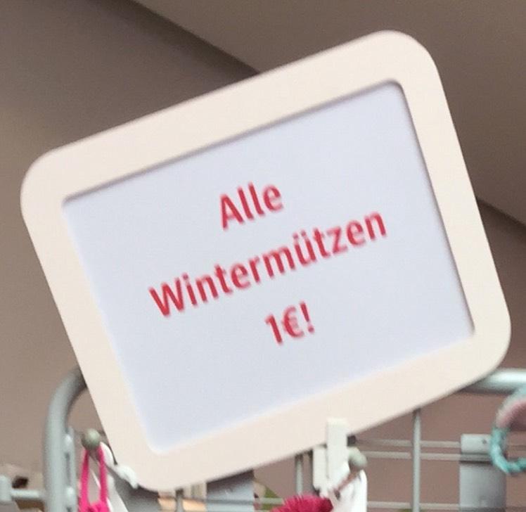 dm [OFFLINE] Kinder-Wintermützen für €1,00