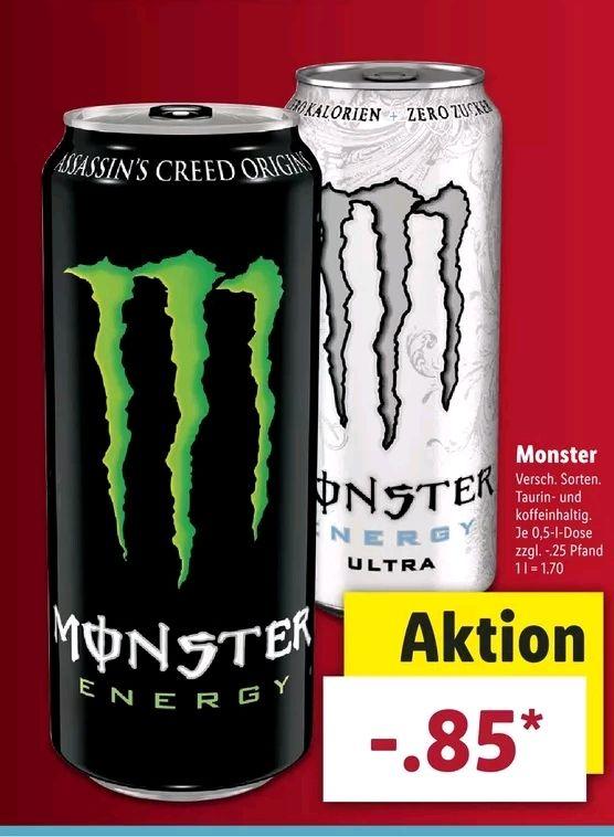 Monster Energy ab dem 26.02 für 0,85€ bei LIDL