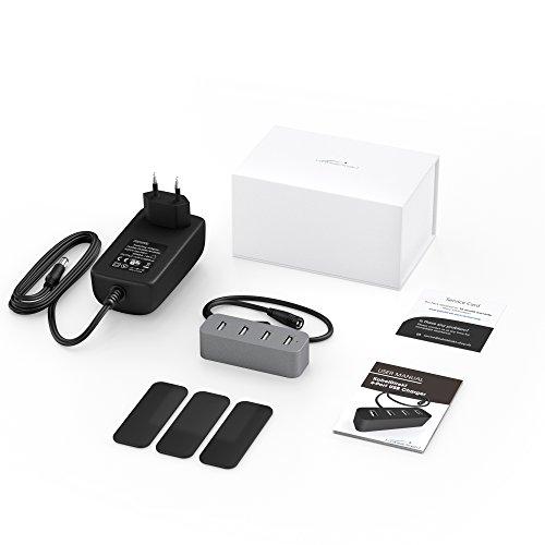 [Amazon Prime] 4-Port USB BC 1.2 Ladegerät aus Aluminium 6 A gesamt