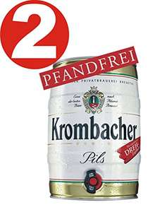 [AMAZON Marketplace] 2 x Krombacher Partyfass 5 Liter 4,8% vol.