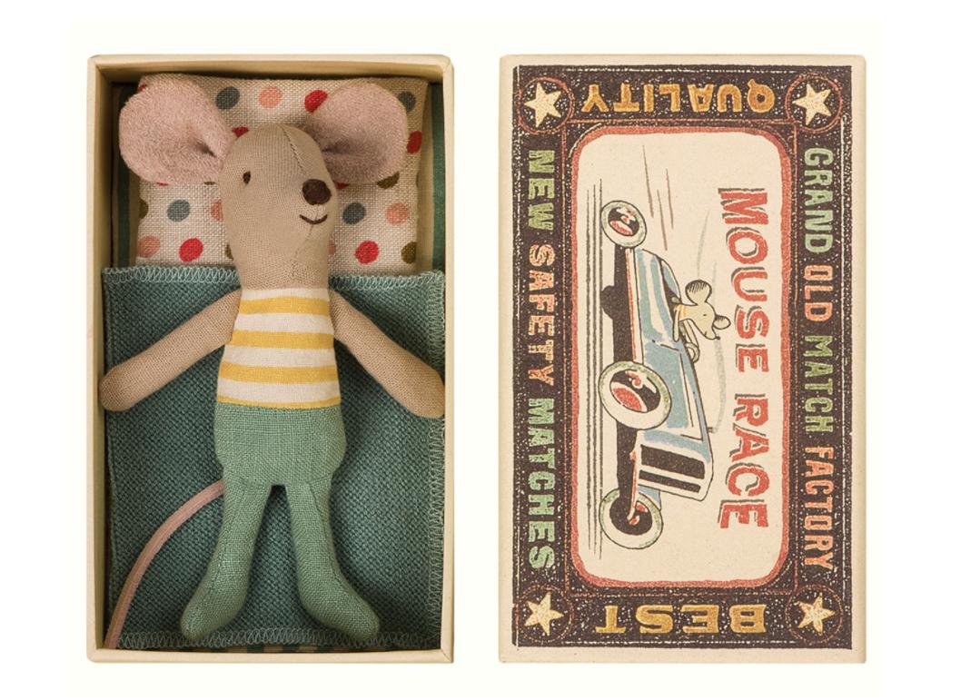 """20% Rabatt auf Kinderspielzeug bei Nostalgie im Kinderzimmer, z.B. Maileg Maus """"Kleiner Bruder"""" in der Schachtel"""