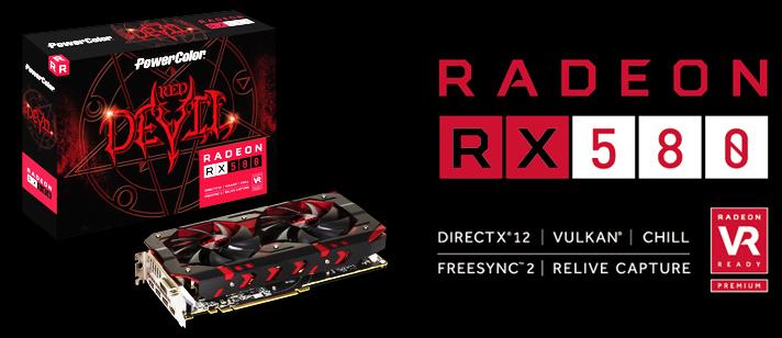 Grafikkarte - 8GB PowerColor Radeon RX 580 Red Devil Aktiv PCIe 3.0 x16 (Retail)