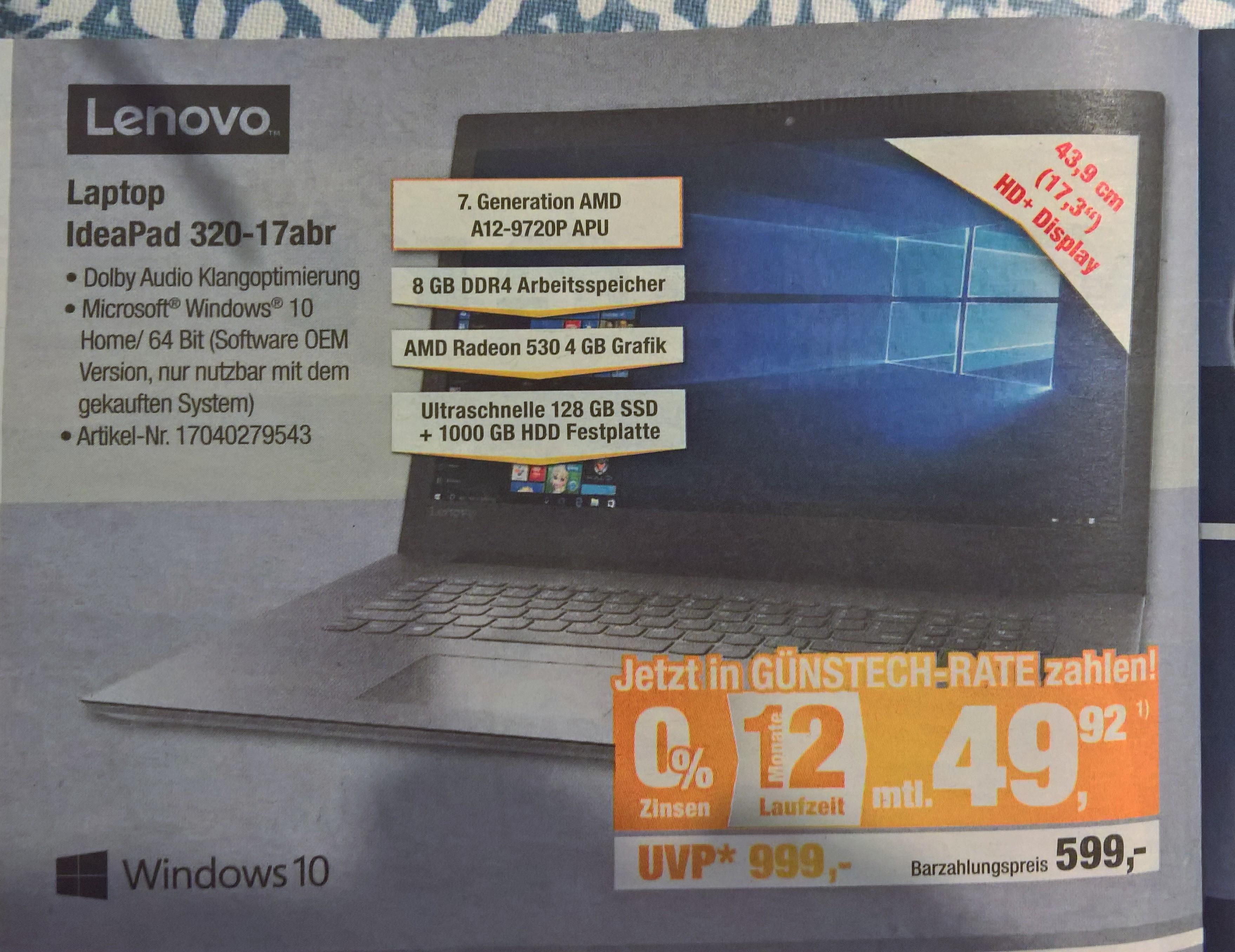 Lenovo IdeaPad 320-17 320-17ABR / lokal Expert Bening