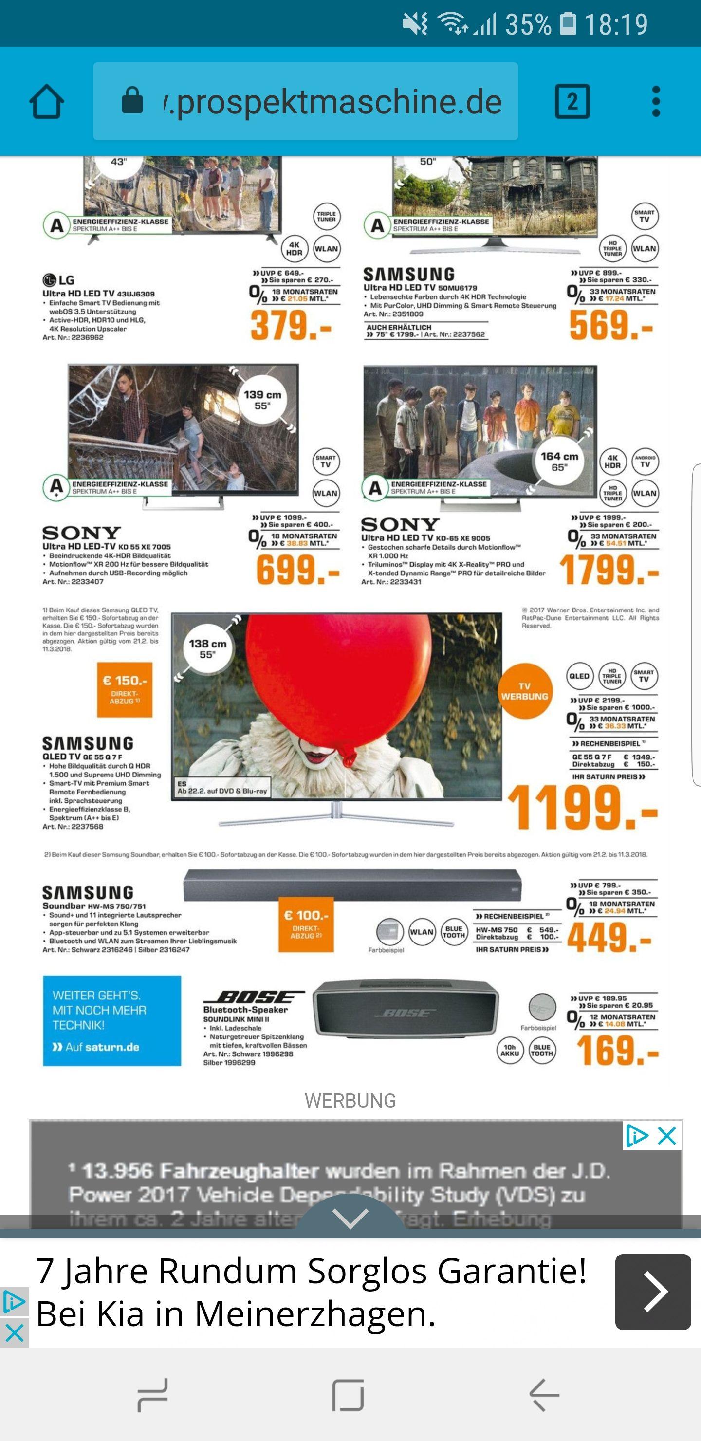 Samsung 55Q7F [1349€] - [150€ Direktabzug]