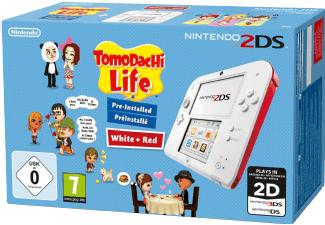 NINTENDO 2DS Bundle Weiss-Rot + Tomodachi Life (vorinstalliert )- LIMITED EDITION [mediamarkt.at]