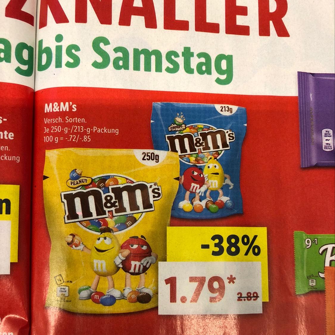 M&M's Versch. Sorten @ Lidl (1.3-3.3)